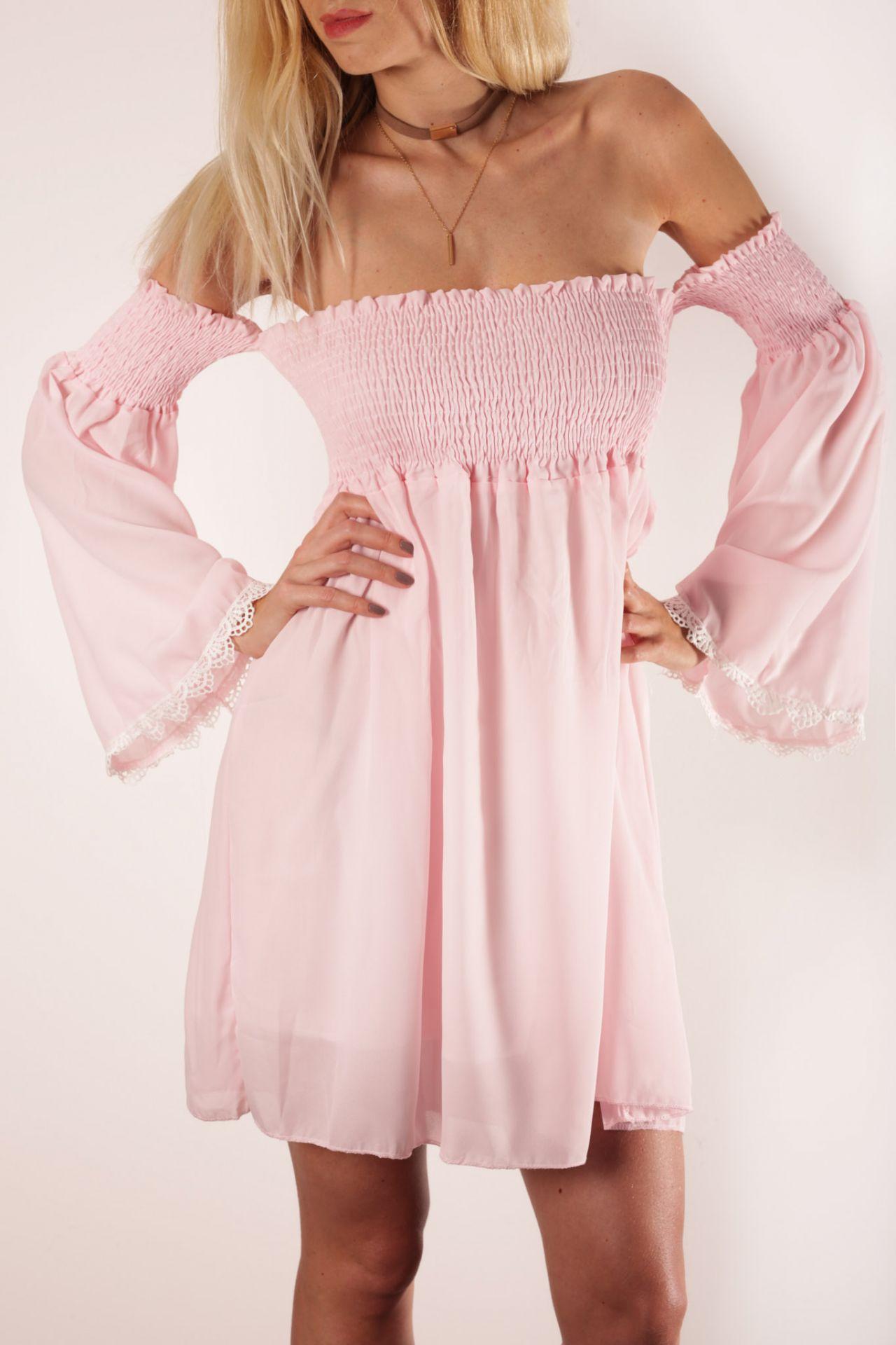 Plážové šifónové šaty Think pink!