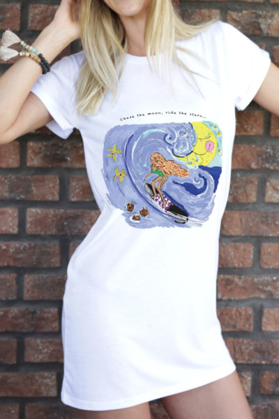 The longline tee - Moonlight surfer #1