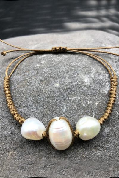 Boho pearl náramok simplicity